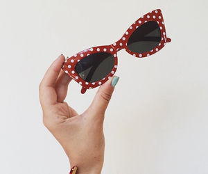accesories, nails, and sunglasses image
