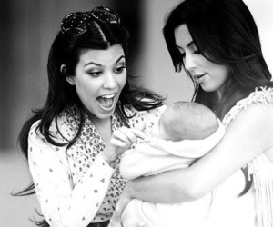 babies, black and white, and kim image