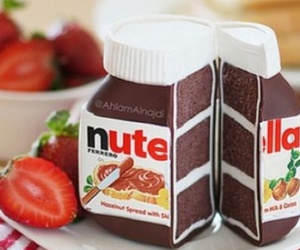 nutella, cake, and food image