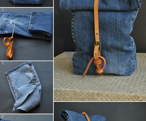 fashion, jean bags, and recycle jean ideas image