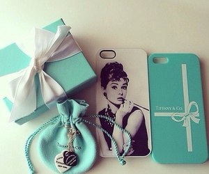 tiffany, audrey hepburn, and blue image