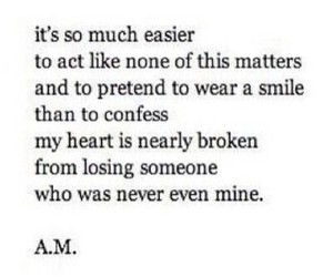 broken heart, lost, and quote image