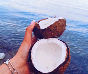 coconut, nails, and sea image