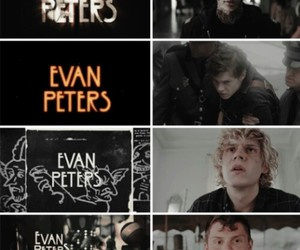evan peters, ahs, and tate image