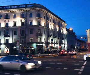 building, evening, and minsk image