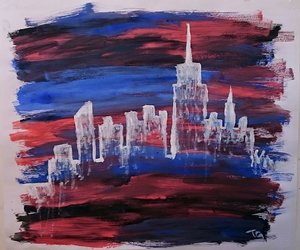 art, city, and colors image
