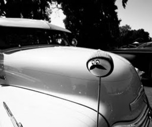 black and white, rod, and car image