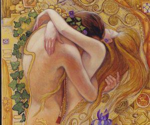 art noveau, arte, and hug image