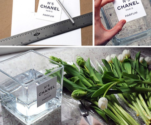 diy, chanel, and flowers image