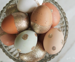 easter, eggs, and glitter image