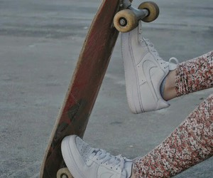 skate, nike, and shoes image