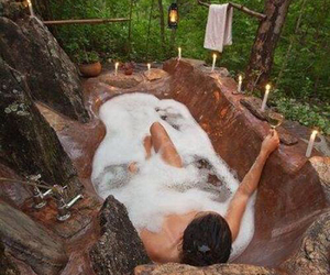 nature, bath, and relax image