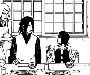 sasuke uchiha, naruto gaiden, and sarada uchiha image
