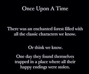once upon a time, ouat, and happy endings image