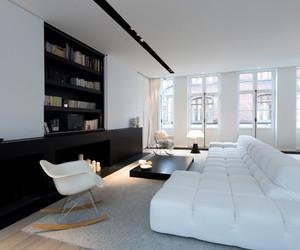 apartment, black, and books image