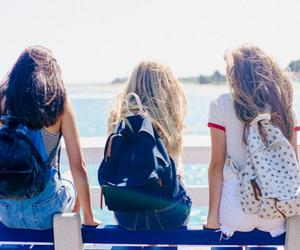beach, best friends, and fashion image