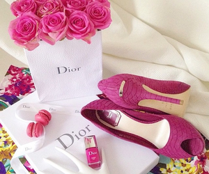 dior, pink, and fashion image