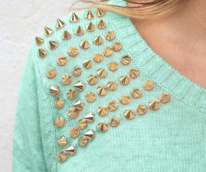 fashion, sweater, and studs image