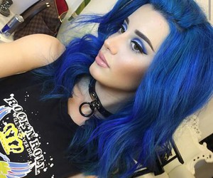 blue, fashion, and hair image