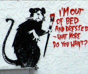 BANKSY, rat, and art image