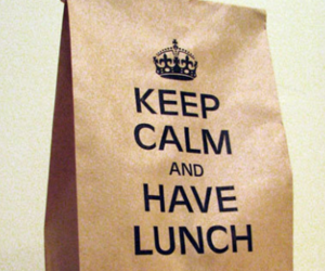 keep calm and lunch image