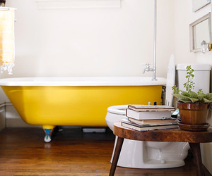bathroom and yellow image