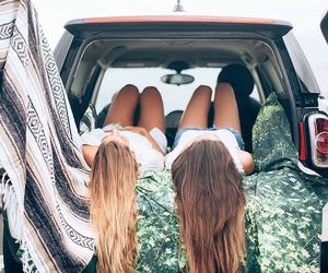 beautiful, brunette, and Road Trip image