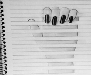 drawing and hand image