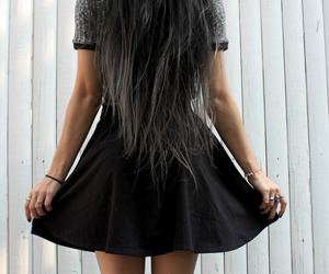 girl, grey hair, and long hair image