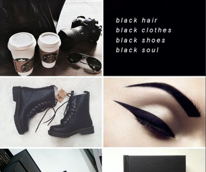 black, chanel, and eyeliner image