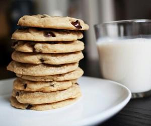 milk, food, and Cookies image
