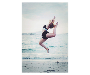 beach, gymnast, and summer image