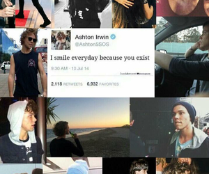 tweets, 5sos, and ashton irwin image