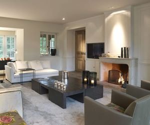 cozy, fireplace, and house image