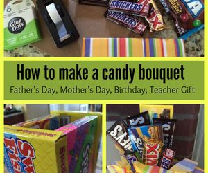 bouquet, candies, and diy image