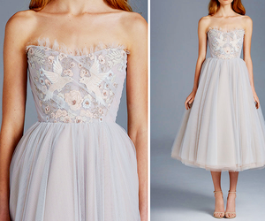 dress, fashion, and bird image