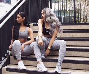 fashion, nike, and hair image