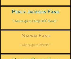 harry potter, narnia, and percy jackson image