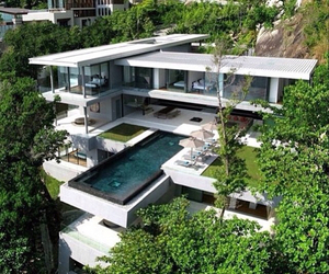 luxury, pool, and design image