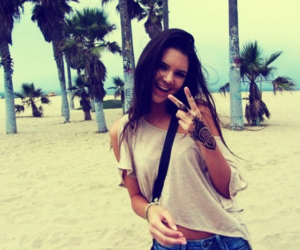 kendall jenner, beach, and summer image