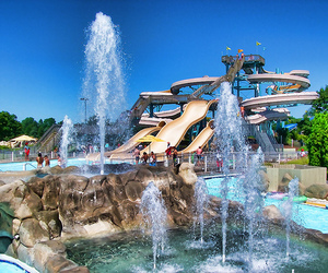 pool, water, and water slides image