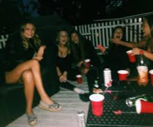 party, friends, and girl image