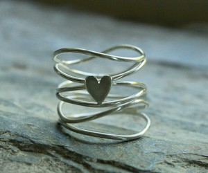 ring, heart, and jewelry image