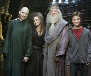 harry potter, voldemort, and dumbledore image