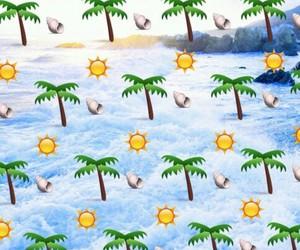 emoji, summer, and sun image