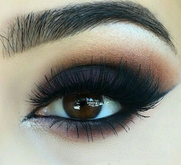 Gorgeous Sultry Brown Black Smokey Eye On We Heart It