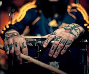 tattoo, drums, and drummer image