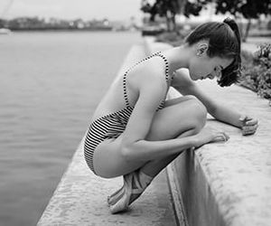 ballerina, ballet, and black and white photography image