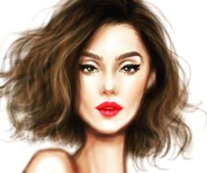 art and short hair image