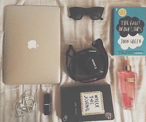 book, laptop, and imac.perfume image